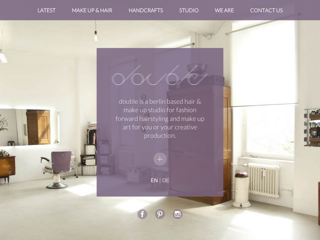 Screenshot der Webseite www.double-studio.com